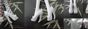 Monster High Shoes - Grey/Stone by TifaTofu