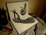3D Drawing - Machine hand by NAGAIHIDEYUKI
