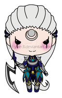 Diana, the chibi scorn of the moon by yue-3