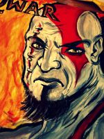 Kratos God of War by TheDorkyDerpster