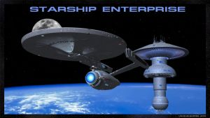 Starship Enterprise by unusualsuspex