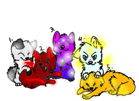 Wolf pup adopts (CLOSED) by Dark-Lighting