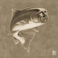 Lloyd Bridges Fish by muzski