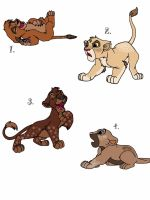 Lion cubs/special marks adopts by CyanSapphire