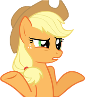 Confused Applejack [Vectorized] by stabbing-robot