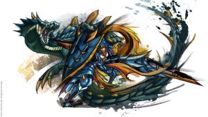 Monster Hunter Lagiacrus by TheOneWithBear