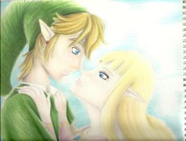 Link and Zelda by sexyCutie-StudMuffin