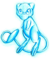 Shiny Mew by Ink-Leviathan