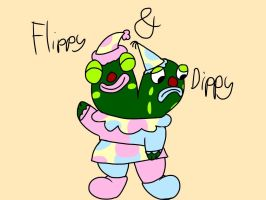 Flippy and Dippy by AnnoyedClaude