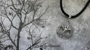 HANDMADE - Man Necklace Tree Life by IWantCandyCreation