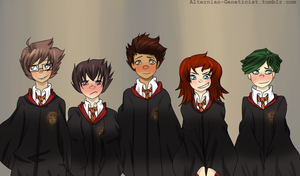 ..:Hogwartstuck:.. First Years by Alternian-Geneticist