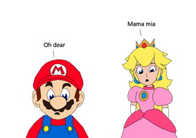 Mario Switched With Peach by fuzzylittlekitty