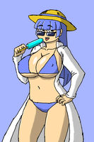 Professor Roba in a bikini by Brian12