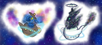 [SOLD!!!] Space Teapots [CLOSED AUCTION] by Ryurei-Kizuna