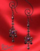 Pandora Rhinestone Filigree Earrings by ArtOfAdornment