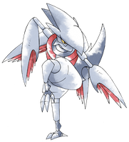 Mega Skarmory (Old Sugimori Style) by CadmiumRED