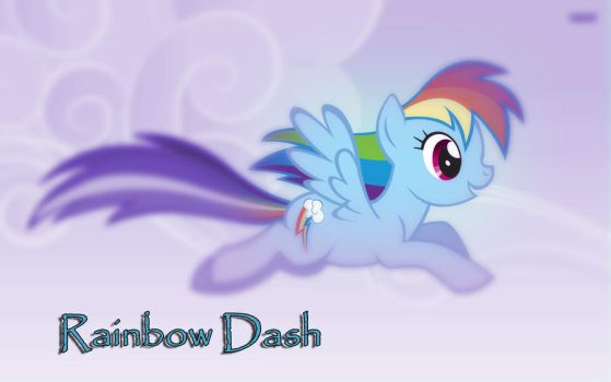 Rainbow Dash Wallpaper by convancha