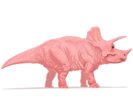 The Nude Triceratops by TORONN