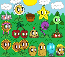 Plants Vs Zombies Cute Plants Part 2 by pokemonlpsfan