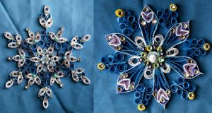 Quilled Snowflakes by El-Sharra