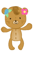 Tropical Bear front view by Moroboshist