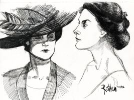 lady Mary sketches by iago-rotten