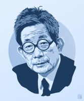 Kenzaburo Oe by monsteroftheid