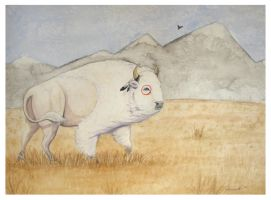 The White Buffalo by LilAngelWings014