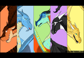 Wings of Fire 1 Year Anniversary by RhynoBullraq