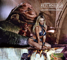 Candice Swanepoel|Princess Leia Slave|Jabba Hutt by c-edward