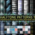 Halftone Patterns 1 by AscendedArts