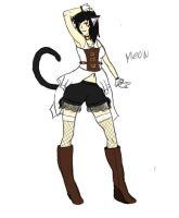 Steampunk outfit quick scatch by NayumiNeko