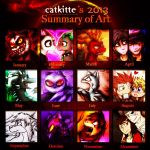 Catkitte's 2013 Art Summary by catkitte