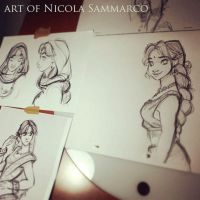 Princess Auda in progress :) by nicolasammarco