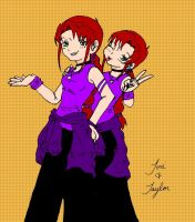 Twin Terrors_colored by Denna
