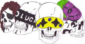 My Killjoy Skulls by Art-is-life22