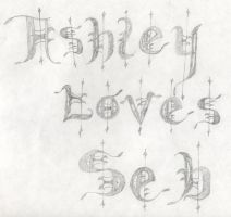 former feeling with caligraphy by ashumz1122