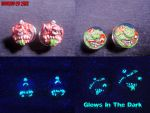 Custom Double Sided Madballs Plugs by Undead Ed by Undead-Art