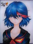 Ryuuko (colored pencils) by ELJOEYDESIGNS
