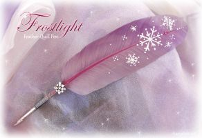 Snowflake Feather Quill Pen by ChaeyAhne