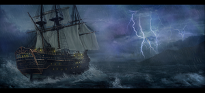Storm at sea by LMorse