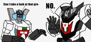 G1 Wheeljack meets TF Prime Wheeljack by mmcfacialhair