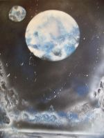 Spray paint Space art 2 by THEBIONICBOI