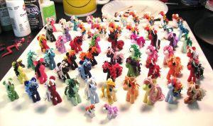 Ponies for Anime Expo WIP by DragonsAndBeasties