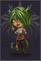 chibi cleo by Harpyqueen