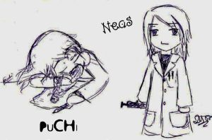 neas and puchi by NeasLon