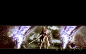FFXIII-2 Lightning Caius Wallpaper by zhiyuguyue