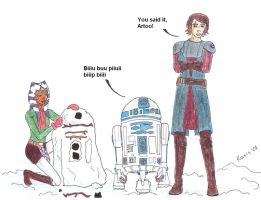 Artoo the snowman by Kassis