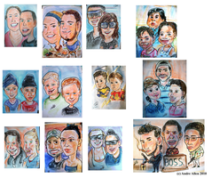 colored group caricatures... by PoetryMan1
