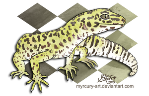 Pancake the Leopard Gecko by Myrcury-Art